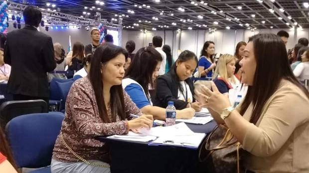 The job fair at the Philippine Independence Day celebration in Dubai on June 15, 2018
