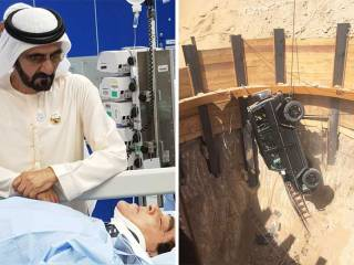 Dubai Ruler visits injured motorist
