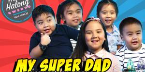 Children's tribute to their dads on Father's Day