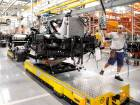 A Daimler AG Mercedes-Benz truck new production line in Brazil. The manufacturer said late on Wednesday its full-year earnings excluding some items will be slightly lower than last year.