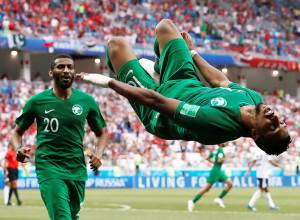 Pictures: Saudis stun Egypt 2-1 in World Cup