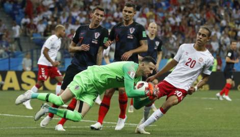 Croatia beat Denmark at penalty shoot out