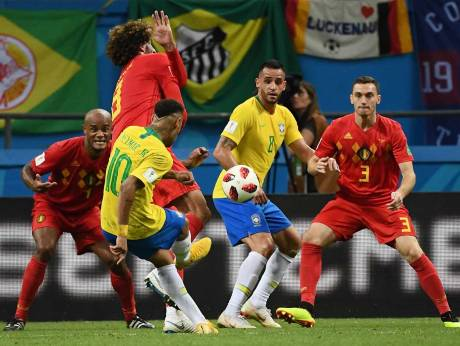 Image result for FIFA World Cup quarterfinals 2018 : Belgium Beat Brazil 2-1