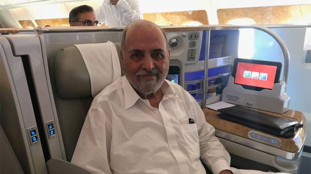 Captain Fazle Ghani, who operated the first Emirates flight to Pakistan in 1985