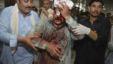 Suicide blast at election rally in Pakistan