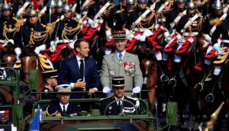 France marks Bastille Day with military parade