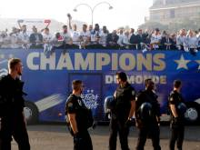 Pictures: French team get a heroes' welcome