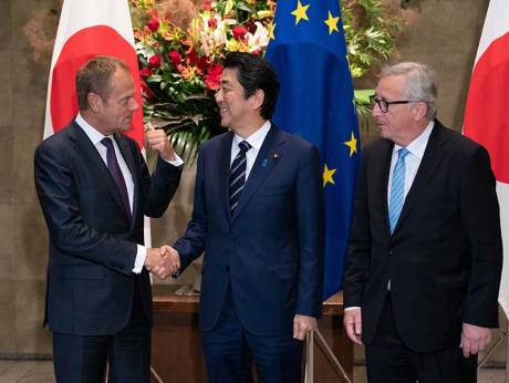 Japan Eu Sign Free Trade Pact Amid Worries About Trump Gulfnews