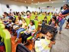Young patients enjoy in-hospital movie
