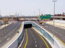 Tunnel in Dubai's Business Bay district ready