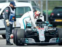 Hamilton limps out as Vettel takes German pole