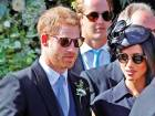tab Meghan Markle and Prince Harry at the wedding of Charlie van Straubenzee