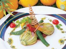 Recipe: Zucchini blossoms stuffed with cheese