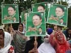 Anti-PTI parties protest alleged poll fraud
