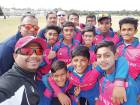 Members of the Young Talent Cricket Academy team that toured Australia along with their coaches.