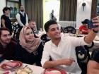 Fans at the lunch with Mohammad Assaf.