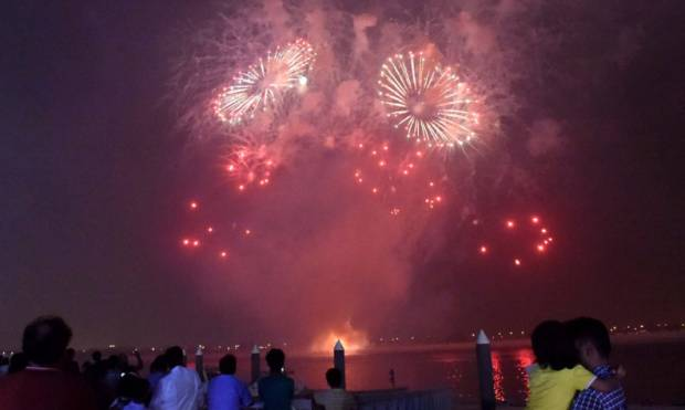 In pictures: Eid fireworks at Yas Marina