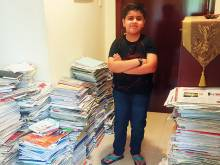 Dubai pupil recycles more than 500kg of paper