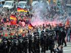 Six injured during violent protest in Germany