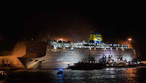 Fire breaks out on Greek passenger ferry