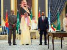 Saudi King Salman with Ethiopian Prime Minister Abiy Ahmed (right) and Eritrean President Isaias Afwerki.