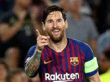 Messi eases the pressure with a treble