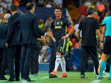Ronaldo sent off, but Juve still cruise