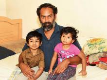 Indian father seeks amnesty for toddlers