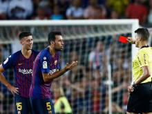 Girona's Pons blasts Lenglet red in Barca draw