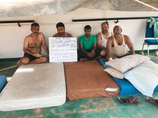 Indian sailors stranded on ship in Dubai