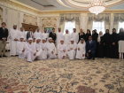 """Shaikh Mohammad Bin Zayed Al Nahyan receives a number of Emirati youth participating in the """"Future Scientists of UAE 2018"""" and """"Future Medical Stars"""" programmes, organised by Al Bayt Mitwahid Association."""