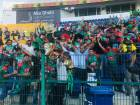 Bangladesh cricket fans at the Zayed Cricket Stadium in Abu Dhabi.