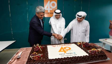 Gulf News marks 40th anniversary