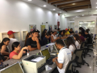 Overseas Filipino workers flock to a remittance centre in Satwa, Dubai, to send money home, transact with Home Mutual Development Fund and Social Security System.
