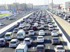 A typical day of traffic in Sharjah during the morning rush hour.
