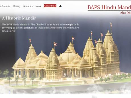 BAPS forms Mandir Ltd for Abu Dhabi Hindu temple project; launches website to facilitate contributions
