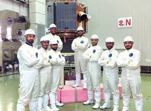 Final prep for KhalifaSat launch on in Japan