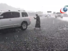 Video: Hail storm, heavy rain hit UAE's north