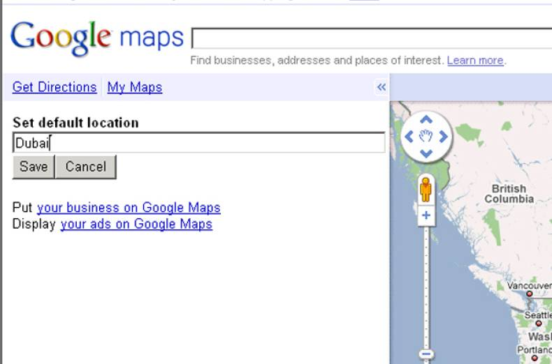 google-map-default-page