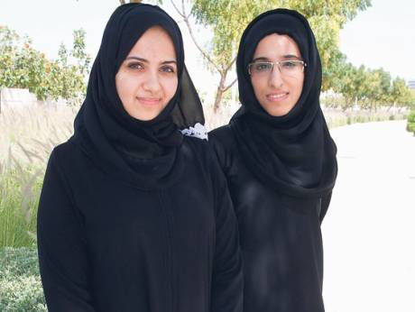 Reem Captain and Roudha Al Majid at Zayed University Dubai