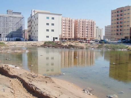Stagnant water from this year's rains still remains in certain areas of Sharjah