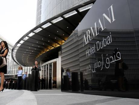 World 39 s first armani hotel opens in burj khalifa for Armani burj khalifa