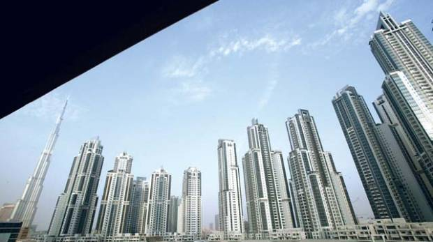 A look at real estate projects on the Business Bay area of Dubai.
