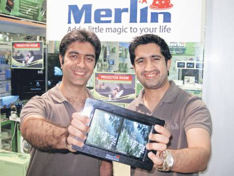 Founders of Dubai-based electronics firm Merlin, Sharad Bachani (left) and Rohit Bachani