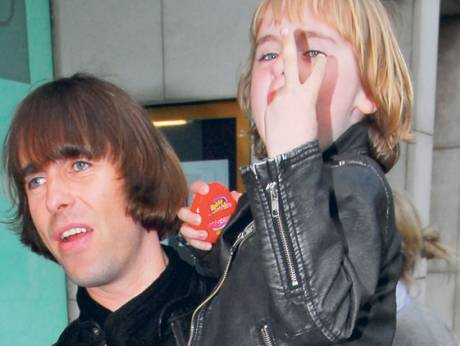Liam Gallagher and son Gene