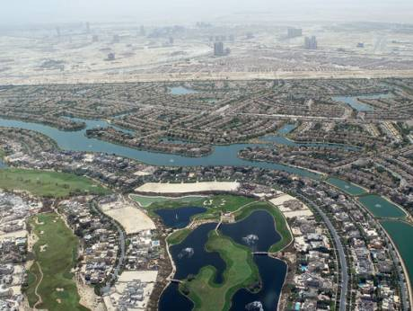 Aerial view of Emirates Hills