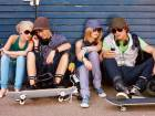 Teens with cellphones