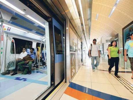 135,000 commuters using the Metro on a daily basis