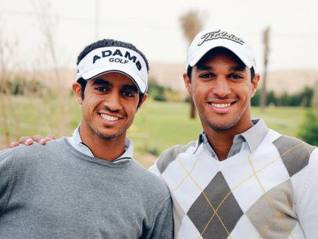 UAE's Ahmad Al Musharrakh (right), seen with Saudi Arabia's Othman Al Mulla