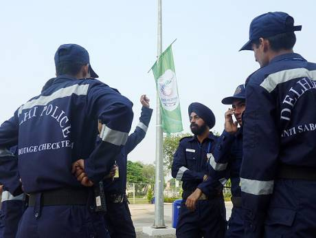Members of the anti-bomb squad in India